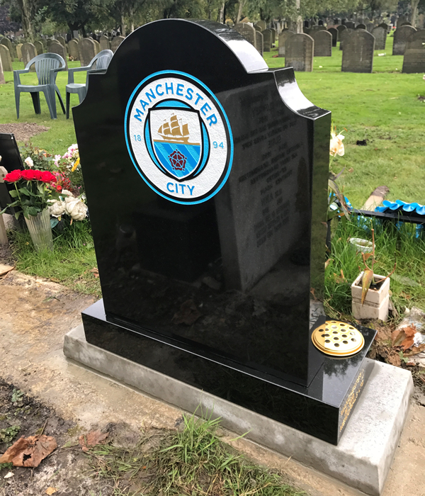 Manchester City memorial designed specifically to your needs